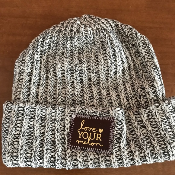 Love Your Melon Black Speckled Gold Foil Beanie 20be65f5114